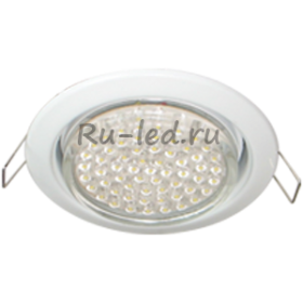 светильник gx53 h4 белый Ecola GX53 H4 Downlight without reflector_white (светильник) 38x106
