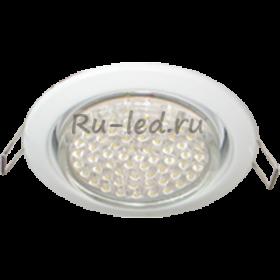 TW5V42ELC комплект светильник + лампа gx53 ecola light gx53 h4 led светильник белый встр.без рефл. с лампой gx53 led 4,2w 4200к матовое стекло 38x106