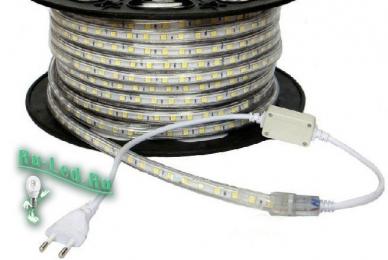 диодная лента 220 STD 4,8W/m IP68 12x7 60Led/m 4200K 4Lm/LED 240Lm/m лента 10м