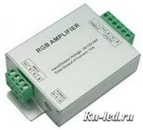 AMP12AESB rgb контроллеры ecola led strip rgb amplifier 12a 144w 12v (288w 24v) усилитель для rgb ленты