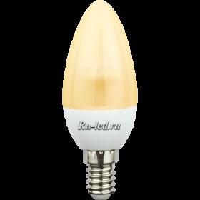 led свечи купить Ecola candle LED 4,2W 220V E14 золотистая полуматовая свеча искристая пирамида (композит) 98x36