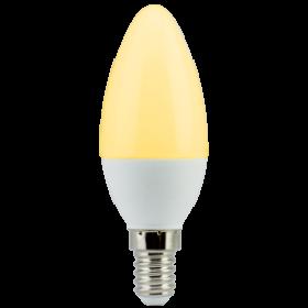 лампочка свеча купить Ecola candle LED 6,0W 220V E14 золотистая свеча (композит) 101x37