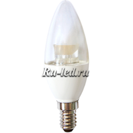 Светодиодные лампы е14 это отличная возможность организовать полноценное освещение в домах, офисах, торговых и выставочных залах Ecola candle LED Premium 6,0W 220V E14 4000K прозрачная свеча с линзой (композит) 105x35