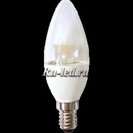 светодиодные е14 лампы увеличивают экономию средств Ecola candle LED Premium 6,0W 220V E14 2700K прозрачная свеча с линзой (композит) 105x35
