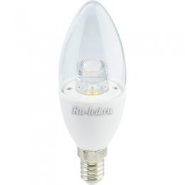 лампочка е14 Ecola candle LED Premium 7,0W 220V E14 2700K прозрачная свеча с линзой (композит) 109x37