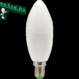 лампа 220v e14 свеча купить недорого в интернете магазине в москве Ecola candle LED Premium 7,0W 220V E14 6000K свеча (композит) 105x37