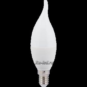 лампа е14 свеча на ветру Ecola candle LED Premium 7,0W 220V E14 2700K свеча на ветру (композит) 130x37