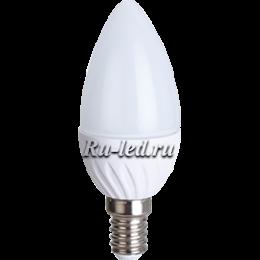 лампочка в виде свечи Ecola Light candle LED 5,0W 220V E14 4000K свеча 100x37