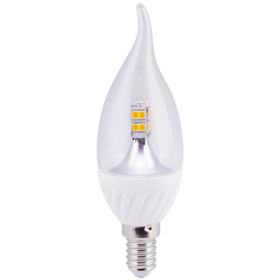 ecola candle led это изящество качество и длительный срок службы Ecola candle LED 4,0W 220V E14 4000K 320° прозрачная свеча на ветру искристая точка (керамика) 125х37