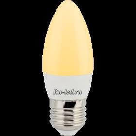 Лампа свеча Ecola candle LED 6,0W 220V E27 золотистая свеча (композит) 101x37