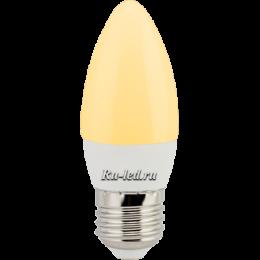 лампа свеча помогает создать ощущение уютного свечного освещения Ecola candle LED Premium 8,0W 220V E27 золотистая свеча (композит) 100x37