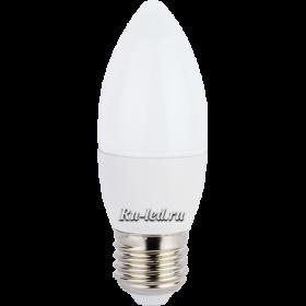 лампа свеча купить Ecola candle LED 7,0W 220V E27 4000K свеча (композит) 103x37