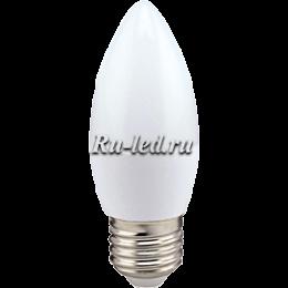 Лампа светодиодная led свеча standard добавит в обстановку нотку элегантности Ecola candle LED 8,0W 220V E27 4000K свеча (композит) 100x37