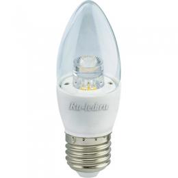 Светодиодные лампы миньоны идеально впишутся в интерьер Ecola candle LED Premium 7,0W 220V E27 2700K прозрачная свеча с линзой (композит) 103x37