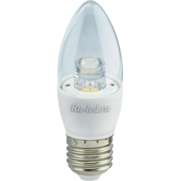 лампа миньон Ecola candle LED Premium 7,0W 220V E27 2700K прозрачная свеча с линзой (композит) 103x37