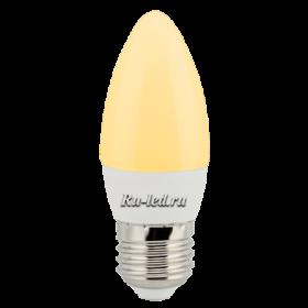 led свечи Ecola candle LED Premium 6,0W 220V E27 золотистая свеча (композит) 101x37