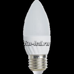 лампа горящая свеча Ecola Light candle LED 5,0W 220V E27 4000K свеча 100x37