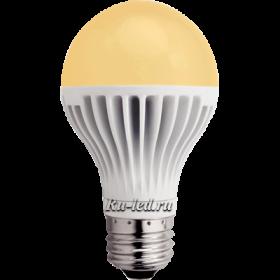 светодиодные лампы купить недорого по самым выгодным ценам от производителя Ecola classic LED 12,0W A60 220-240V E27 золотистый шар (ребристый алюм. радиатор) 110x60