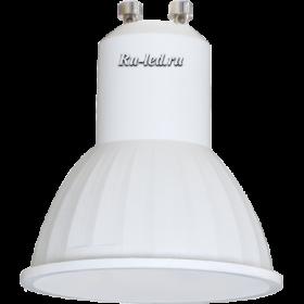 лампа gu10 цена демократична и позволяет ее устанавливать в натяжных потолках Ecola Reflector GU10 LED 4,2W 220V 4200K матовое стекло (композит) 50x50