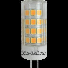 В оригинальных дизайнерских люстрах, в точечных системах освещения довольно часто бывает установлен патрон g4 Ecola G4 LED 4,0W Corn Micro 220V 2800K 320° 43x15