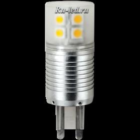 тип цоколя g9, несмотря на малый размер, способна освещать большие площади Ecola G9 LED 4,1W Corn Mini 220V 4200K 300° (алюм. радиатор) 65x23