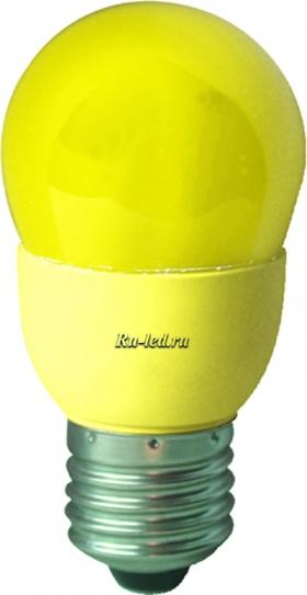 K7CY09ECB лампы - шары ecola globe color 9w 220v e27 yellow желтый 91x46