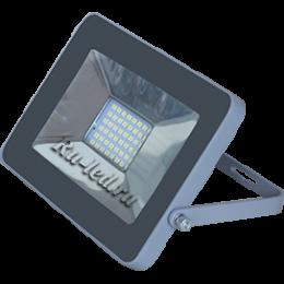 светодиодный прожектор 50 вт Ecola Projector LED 50,0W 220V 2800K IP65 Светодиодный Прожектор тонкий Серебристо-серый 221x154x20