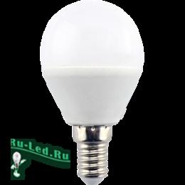 Простые светодиодные лампы это товары высочайшего качества Ecola globe LED 8,0W G45 220V E14 6000K шар (композит) 78x45