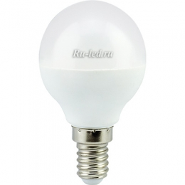Купить светодиодные лампы оптом для перехода на новые осветительные технологии Ecola globe LED 7,0W G45 220V E14 2700K шар (композит) 77x45
