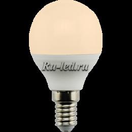 Купить светодиодные лампы оптом для создания романтичной атмосферы Ecola globe LED Premium 7,0W G45 220V E14 золотистый шар (композит) 77x45