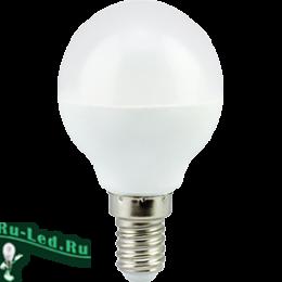 Лампочки led e14 являются самым оптимальным вариантом освещения Ecola globe LED Premium 5,4W G45 220V E14 4000K шар (композит) 77x45