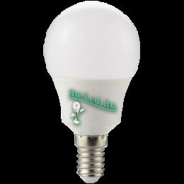 Светодиодные лампы с цоколем е14 отличаются своим универсальным применением Ecola globe LED 8,2W G50 220V E14 2700K шар 270° (композит) 95x50