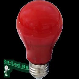 применение светодиодных ламп достаточно широко распространено Ecola classic LED color 12,0W A60 220V E27 Red Красная 360° (композит) 110x60