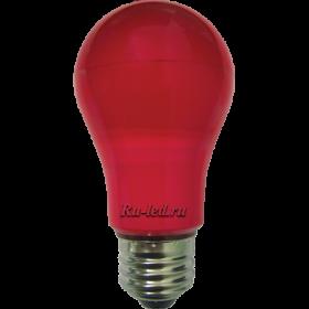 красная лампочка может создать необычайную атмосферу праздника, или наоборот, создать интимность и уют Ecola classic LED color 8,0W A55 220V E27 Red Красная 360° (композит) 108x55