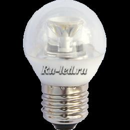 светодиодные лампы купить в интернете намного проще и дешевле, чем в магазине Ecola globe LED Premium 6,0W G45 220V E27 2700K прозрачный шар с линзой (композит) 75x45
