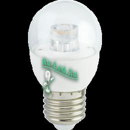 интернет магазин светодиодных ламп правильное место для совершения покупок без риска нарваться на подделку Ecola globe LED Premium 7,0W G45 220V E27 2700K прозрачный шар с линзой (композит) 80x45