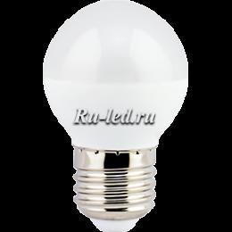 светодиодные лампы 220в купить для люстр, светильников, бра и настольных осветительных приборов Ecola globe LED 7,0W G45 220V E27 6500K шар (композит) 75x45