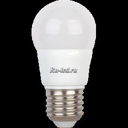 купить led лампочки и потребление энергии, в сравнении с аналогичными по светоотдаче лампами накаливания, уменьшено в 11 раз Ecola globe LED 5,4W G45 220V E27 6500K шар (композит) 82x45