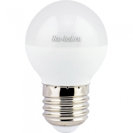 светодиодную лампа теплый белый отличается эргономичным дизайном и высокой энергоэффективностью Ecola globe LED 7,0W G45 220V E27 2700K шар (композит) 75x45