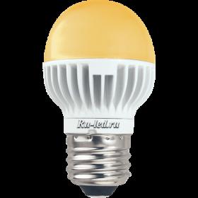 светодиодные лампы для дома цена не станет существенным ударом для вашего семейного бюджета Ecola globe LED Premium 7,0W G45 220V E27 золотистый шар (ребристый алюм. радиатор) 78x45