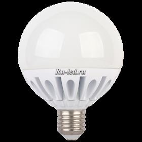 купить светодиодные лампочки в интернет-магазине и значительно понизить затраты на оплату электроэнергии Ecola globe LED Premium 20,0W G95 220V E27 2700K шар (ребристый алюм. радиатор) 130x95
