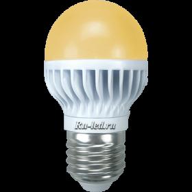 Светодиодные led лампочки существенно сократят расходы на оплату электроэнергии Ecola globe LED 7,0W G45 220V E27 золотистый шар (ребристый алюм. радиатор) 82х45
