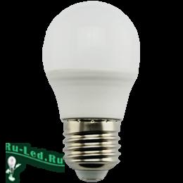 Лампа светодиодная е27 характеристики самые положительные Ecola globe LED Premium 9,0W G45 220V E27 6000K шар (композит) 82x45