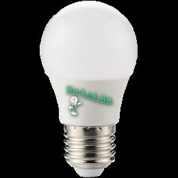 Лампа светодиодная led 8вт е27 это универсальное естественное освещение Ecola globe LED 8,2W G50 220V E27 2700K шар 270° (композит) 95x50