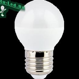 Лампа шар e27 светодиодная недорого в интернет магазине в москве Ecola globe LED Premium 5,4W G45 220V E27 4000K шар (композит) 75x45