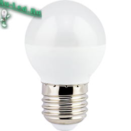 Ecola globe   LED Premium  5,4W G45 220V E27 4000K шар (композит) 75x45