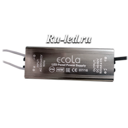 Ecola LED panel Power Supply 40W 220V драйвер для тонкой панели (только для отгрузки с панелями)