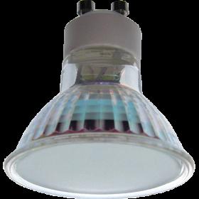 цоколь gu10 купить для создания эффектного точечного освещения Ecola Light Reflector GU10 LED 3W 220V GU10 4200K матовое стекло 53х50