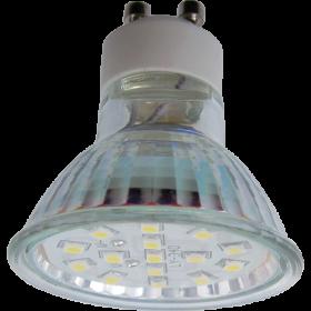 Лампочки gu10 светодиодные пригодятся вам при организации эффектного точечного освещения в доме Ecola Light Reflector GU10 LED 3W 220V GU10 2800K прозрачное стекло 53x50