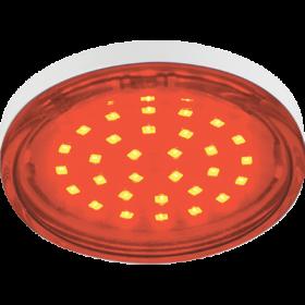 светодиодная лампа gx53 Ecola для комплектации встраиваемых светильников Ecola GX53 LED color 4,4W Tablet 220V Red Красный (насыщенный цвет) прозрачное стекло 27x74